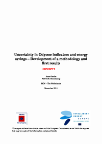 Uncertainty in Odyssee indicators and energy savings