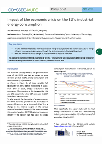 Impact of the economic crisis on the EU's industrial energy consumption
