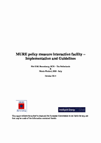 MURE policy measure interaction facility
