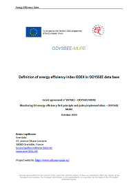 Energy efficiency index ODEX