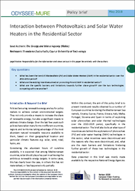 Interaction between Photovoltaics and Solar Water Heaters in the Residential Sector